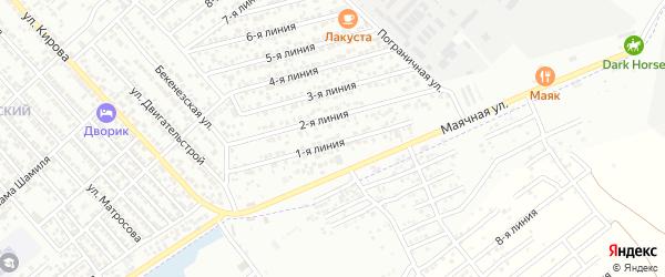 Улица Линия 12 на карте Кирпичного поселка с номерами домов