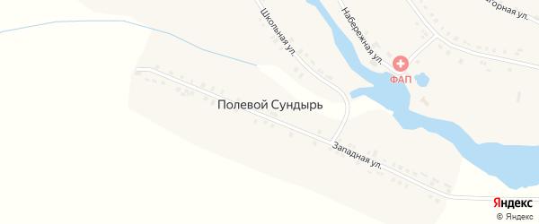 Центральная улица на карте деревни Полевого Сундыря с номерами домов