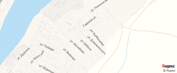 Улица Дзержинского на карте села Мумры с номерами домов