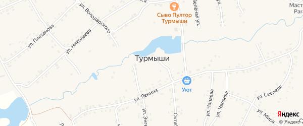 Восточная улица на карте села Турмыши с номерами домов