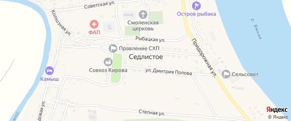 Улица Д.Попова на карте Седлистого села с номерами домов