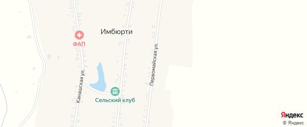 Первомайская улица на карте деревни Имбюрти с номерами домов