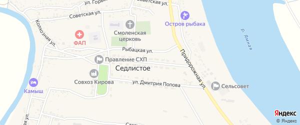 Молодежная улица на карте Седлистого села с номерами домов