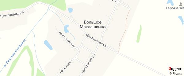 Центральная улица на карте Мариинского Посада с номерами домов
