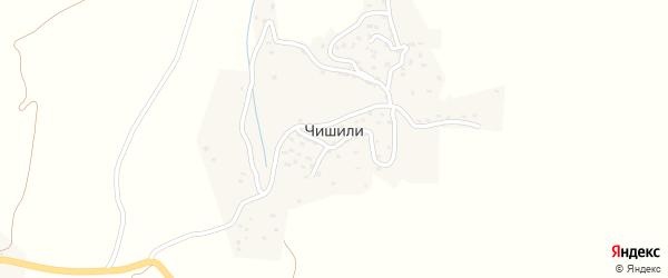 Улица Хъарша на карте села Чишили с номерами домов