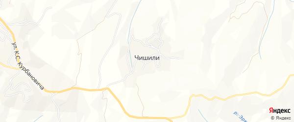 Карта села Чишили в Дагестане с улицами и номерами домов