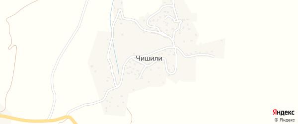 Верхняя центральная улица на карте села Чишили с номерами домов