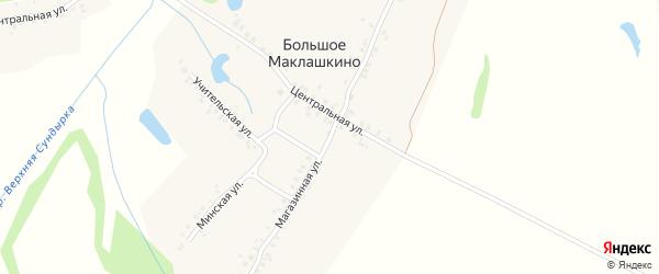 Магазинная улица на карте деревни Большое Маклашкино с номерами домов
