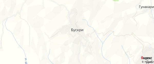 Карта села Бускри в Дагестане с улицами и номерами домов