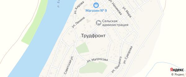 Улица Пушкина на карте села Трудфронта с номерами домов