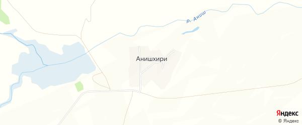 Карта деревни Анишхири в Чувашии с улицами и номерами домов