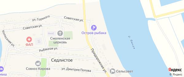 Волжская улица на карте Седлистого села с номерами домов