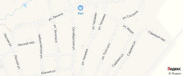 Улица Чапаева на карте села Турмыши с номерами домов