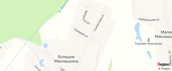 Полевая улица на карте деревни Большое Маклашкино с номерами домов