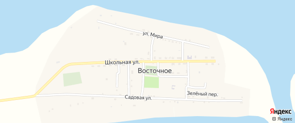Школьная улица на карте Восточного села с номерами домов