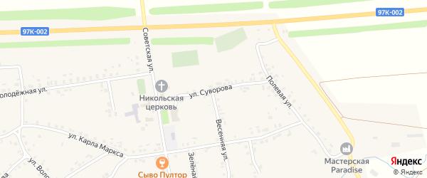 Улица Суворова на карте села Турмыши с номерами домов