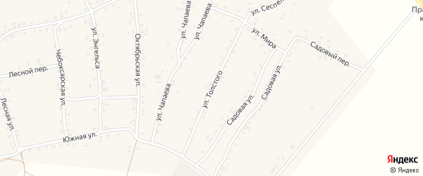 Улица Толстого на карте села Турмыши с номерами домов