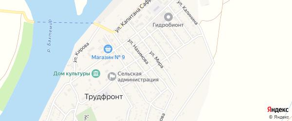 Улица Гагарина на карте села Трудфронта с номерами домов