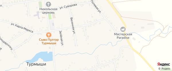Ярославская улица на карте села Турмыши с номерами домов