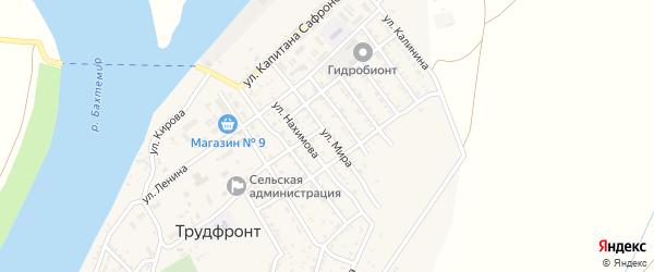 Улица Нахимова на карте села Трудфронта с номерами домов