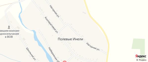 Нагорная улица на карте деревни Полевые Инели с номерами домов