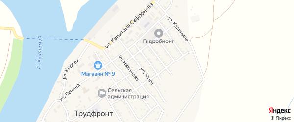 Улица Мира на карте села Трудфронта с номерами домов