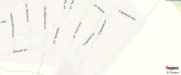 Садовая улица на карте села Турмыши с номерами домов