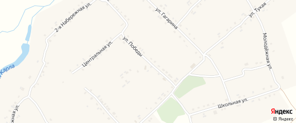 Улица Победы на карте села Трехбалтаево с номерами домов