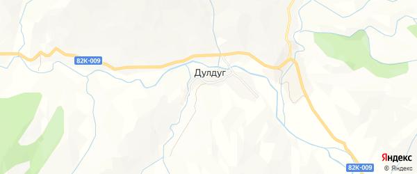 Карта села Дулдуга в Дагестане с улицами и номерами домов
