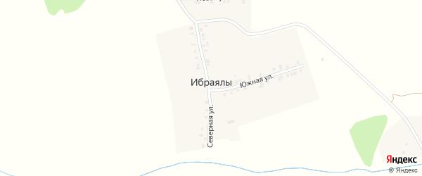 Новая 1-я улица на карте деревни Ибраялы с номерами домов