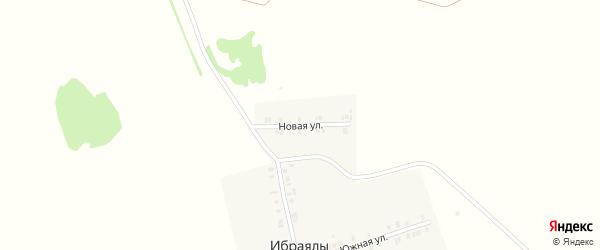 Новая улица на карте деревни Ибраялы с номерами домов