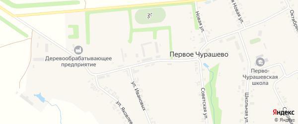 Советская улица на карте села Первое Чурашево с номерами домов