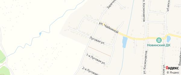 Луговая улица на карте Мариинского Посада с номерами домов