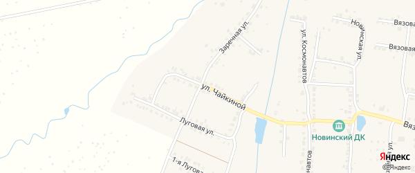 Улица Л.Чайкиной на карте Мариинского Посада с номерами домов