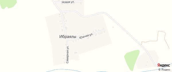 Южная улица на карте деревни Ибраялы с номерами домов