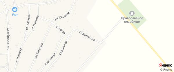 Садовый переулок на карте села Турмыши с номерами домов