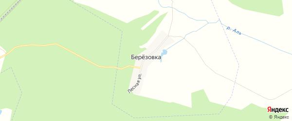 Карта деревни Березовки в Чувашии с улицами и номерами домов