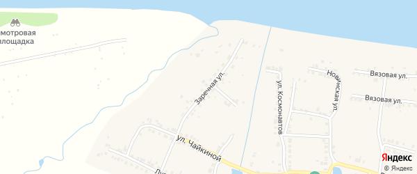 Заречная улица на карте Мариинского Посада с номерами домов
