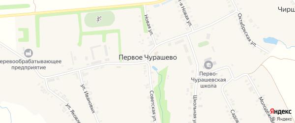 Лесная улица на карте села Первое Чурашево с номерами домов