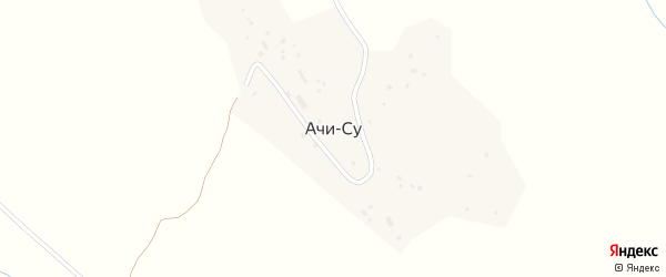 Школьная улица на карте поселка Ачису с номерами домов