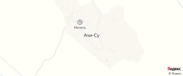 Советский переулок на карте поселка Ачису с номерами домов