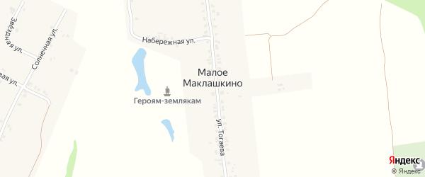 Набережная улица на карте деревни Малое Маклашкино с номерами домов