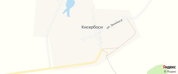 Переулок Пушкина на карте деревни Кисербосей с номерами домов