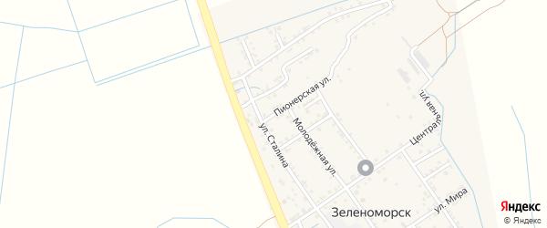 Трудовая улица на карте села Зеленоморск с номерами домов