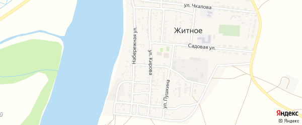 Улица Кирова на карте Житного села с номерами домов