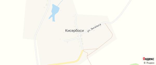 Улица Мичурина на карте деревни Кисербосей с номерами домов