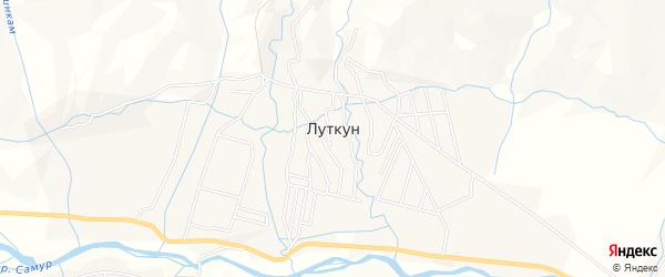 Карта села Луткуна в Дагестане с улицами и номерами домов