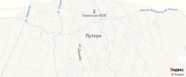 Дачная улица на карте села Луткуна с номерами домов