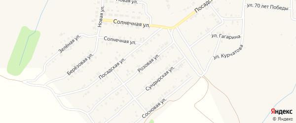 Розовая улица на карте Мариинского Посада с номерами домов