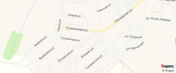 Посадская улица на карте Мариинского Посада с номерами домов